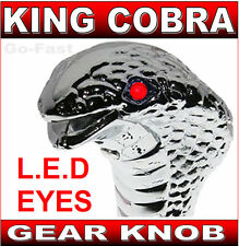 GEAR SHIFT KNOB - KING COBRA - RED FLASHING LED EYES - LED GEAR KNOB