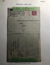 1948 London England Air Letter Cover To Aleph Syria Israel War Censorship