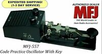 MFJ-557 Morse Code Practice Oscillator With Key. Speaker & Headphone Jack - NEW
