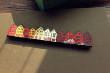 Bryggen Bergen Norway Tourist Travel Souvenir 3D Rubber Fridge Magnet Gift Idea