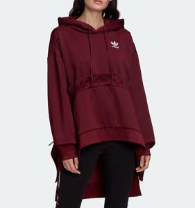 Adidas x J Koo Womens MEDIUM Sweater Hoodie Pullover Trefoil Maroon MSRP $130
