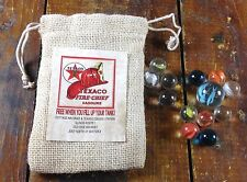 Texaco Fire Chief Gasoline Watseka IL Ill Gas Station Advertising Bag of Marbles