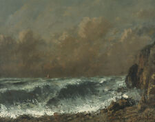 Courbet Gustave The Wave Canvas 16 x 20 #5945