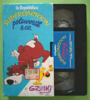 VHS FILM Ita Animazione Supercartoon POTSWORTH & CO/GRIMMY no dvd lp cd mc(V161)