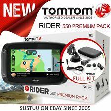 TomTom Rider 550 Premium Motorcycle GPS SatNav│*Lifetime World Maps+Speed Camera