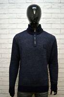 Maglione Uomo PAUL & SHARK Taglia XL Pullover Lana Vergine Blu Cardigan Sweater