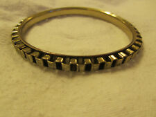 Brass Tone Bangle - 6.7cm diameter - imperfect