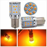 2pc LED Indicator Bulbs BAU15S PY21W Amber 35 SMD Turn Signal Lights 1156PY 12V
