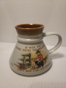 Vintage Otagiri If Your Dog Thinks You Man Cowboy Friendship Coffee Mug  Cup