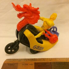 1980S HE-MAN KO DRAGON MOTORCYCLE RIDER MOTU G-MAN KNOCK OFF WEIRD AS!