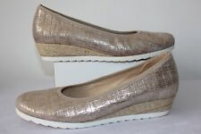 40e745e285 GABOR LADIES CASUAL GOLD LEATHER SHOES PUMPS BALLERINAS SIZE 7.5 G