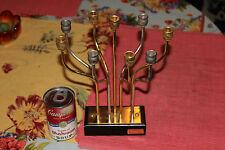 Lovely Korem Jerusalem Menorah-9 Candle Holder-24K Gold & Silver Plated-Judaism