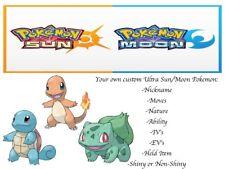 Pokemon Ultra Sun and Moon Kanto Starters Charmander Bulbasaur Squirtle