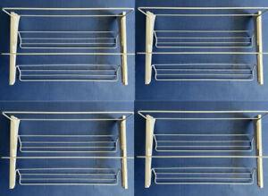 4 Complete Ikea Algot Shoe Organizer Rack White 002.185.65 Brackets
