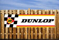 DUNLOP RACING LOGO  PVC BANNER - FOR WORKSHOP, GARAGE & BEDROOM