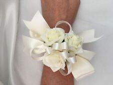 1x Ivory Foam Rose Wedding Bridal Mothers Graduation Flower Wrist Corsage