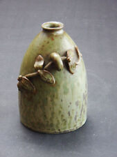 Arne Bang Vase with twig and snail - Scandinavian pottery