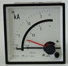 AEG kA Analog-Messgerät Einbauinstrument kilo Amper Meter 2000/5A 380V 90mmx90mm