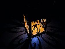 Naranja Energía Solar LED Linterna, jardín traste de metal, Lámpara Colgante al aire libre Jardín