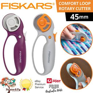 Fiskars 45mm Classic Loop Rotary Cutter, Premium-Steel Blade, Ergonomic Handle