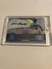 Jose Bautista Signed  Game Worn Jersey Card from 2010 Bowman Platinum Baseball