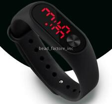 New Silicone Electronic Digital Waterproof Watch For Kids  LED Display Gift