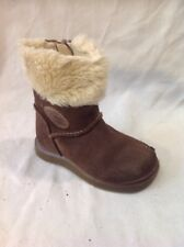 Girls Clarks Brown Suede Boots Size 4F