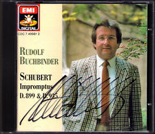 Rudolf libro Binder SIGNED Schubert 8 Impromptus d.899 & 935 EMI 1990 CD op.90 142