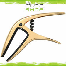 New Ernie Ball Axis Gold Trigger Guitar Capo - Acoustic or Electric - 9603
