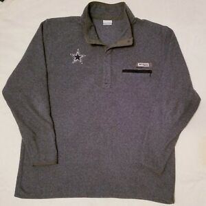 COLUMBIA PFG DALLAS COWBOYS EMBROIDERED NFL FLEECE PULLOVER SIZE XXL NICE