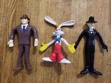 Moc 1988 Ljn Toys Who Framed Roger Rabbit Flexies Set of 3