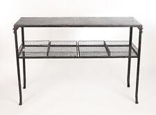 Konsolentisch Industrial Konsole Tisch Vintage Tischkonsole Shabby Schwarz Metal