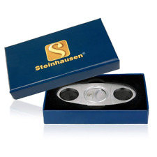 Cigar Cutter Sa1901 Stainless Steel Guillotine Double Cut Blade In Gift Box