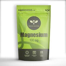 Magnesio 100 mg 180 Tabletas De Suplemento Mineral
