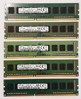 Samsung 4GB DDR3 1600MHz Desktop PC RAM ~~ PC3-12800U Memory 240pin 1Rx8 DIMM