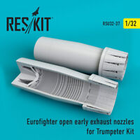 Eurofighter open (early type) nozzles for Trumpeter 1/32 ResKit RSU32-0037