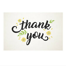 50 Thank You White Paper Cards Cardstock 10x6.5CM Wedding Party Place Card Craft