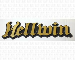 Schecter Amplification Hellwin Guitar Amp Gold+Black Plastic Name Badge Large