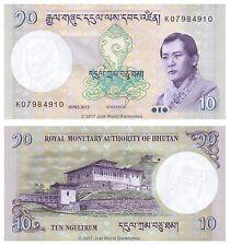 Bhutan 10 ngultrum 2013 UNC banconote P-29b