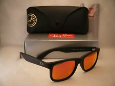 41e87cd54d Ray Ban 4165 Justin Rubber Black w Orange Mirror Flash Lens (RB4165 622 6Q