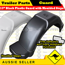 13in black plastic trailer mudguard with moulded steps