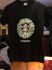 starbucks t shirt Medium Black Shanghai