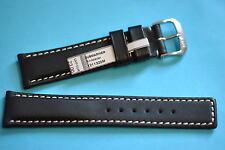 Waterproof Watch Band 18mm Black with Brighter Seam Submariner