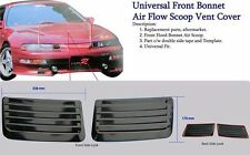 Universal Front Bonnet Air Flow Scoop Vent Cover 1 Pair Honda Mitsubishi Subaru