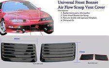 Universal Front Bonnet Air Flow Scoop Vent Cover 1 Pair Honda Mitsubishi Subaru