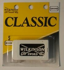 Wilkinson Sword Classic Sword-Edge 5 Safety Razor Double Edge Blades New Razor