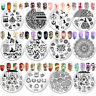 BORN PRETTY Stamping Plates Floral Geometry Nail Art Image Stamp Templates Tool