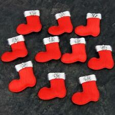 Santa Sock Boot for cards & Decorations, Ideal for kids craft, Xmas, Pk of 10