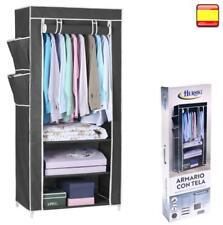 Armario de tela ropero estante lona ropa guardarropa closet 160x75x45cm OFERTA