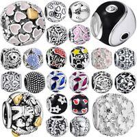 New Women Jewelry Round Charm Bead For European 925 Silver Sterling Diy Bracelet